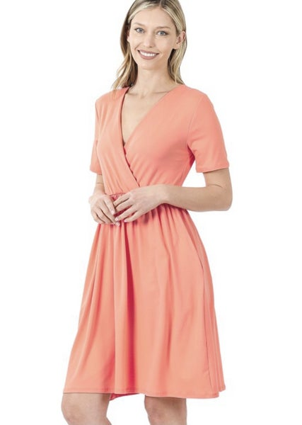 Deal of the Day Short Sleeve Pocket Dress