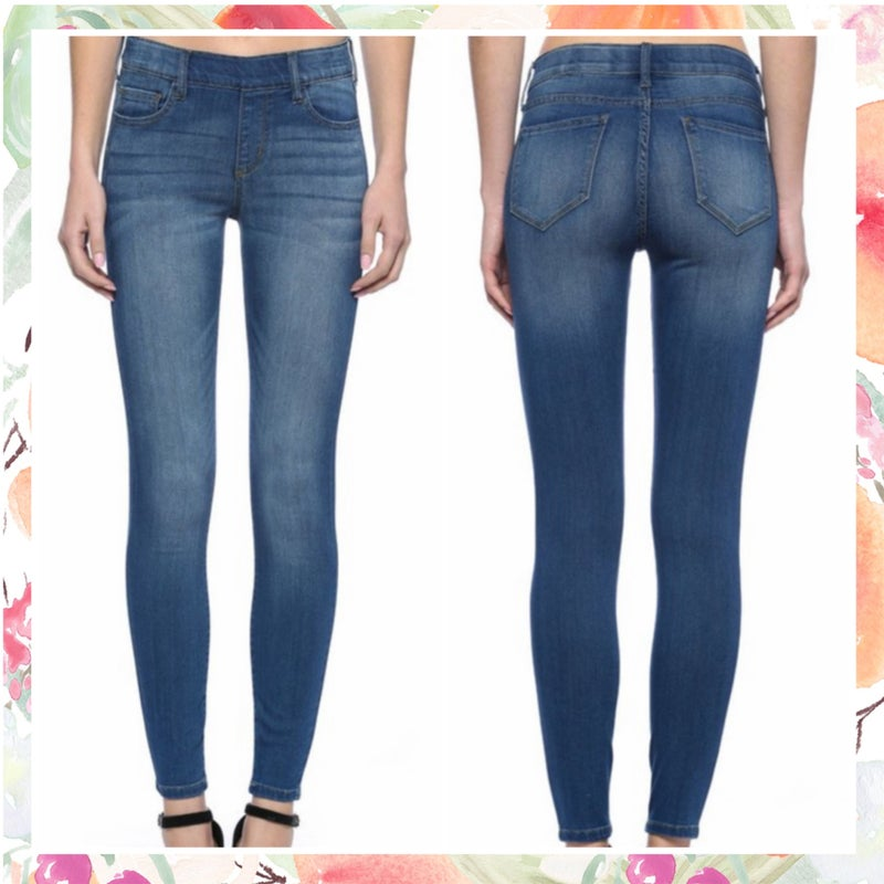 Cello Mid Rise Pull On Crop Skinny