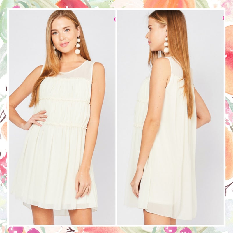 FINAL SALE Beautiful Ivory Dress