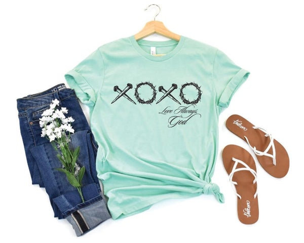 Mint XOXO God Tee