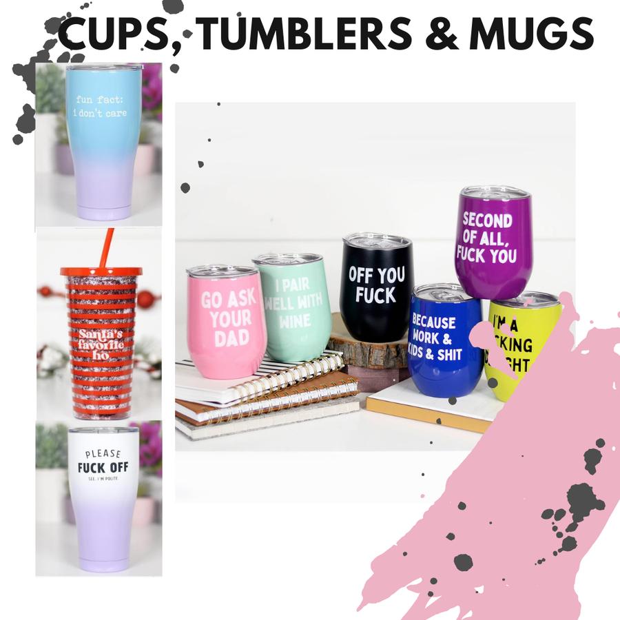 Cups, Tumblers & Mugs
