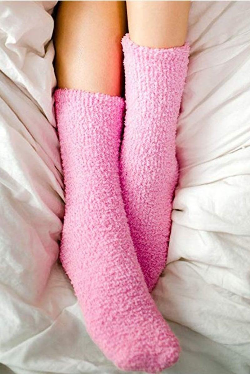 Pink Cozy BRING ME WINE Lounge Socks