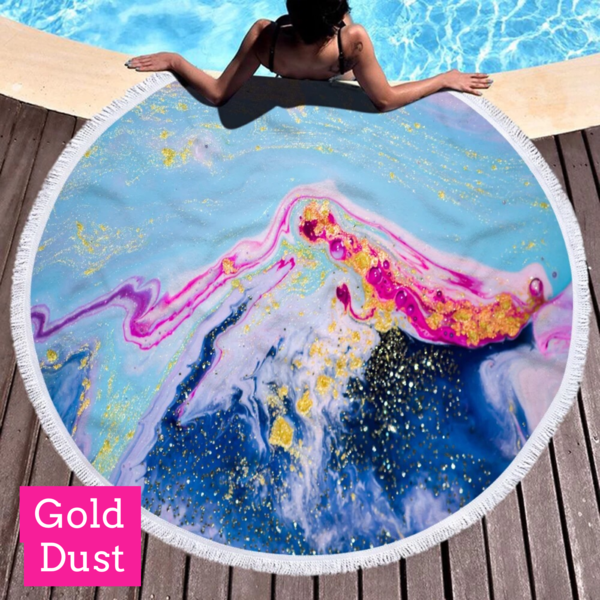 Geode Round Microfiber Beach/Pool Towels