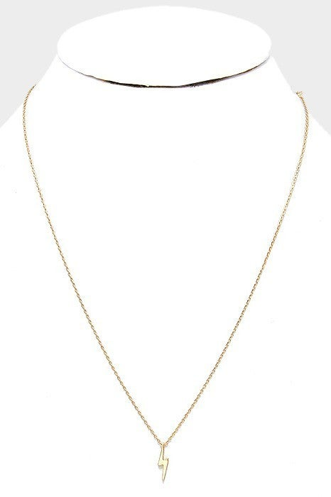 Gold & White Gold Dipped Thunderbolt Necklace
