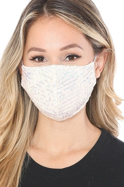 Sequin Adjustable Face Mask