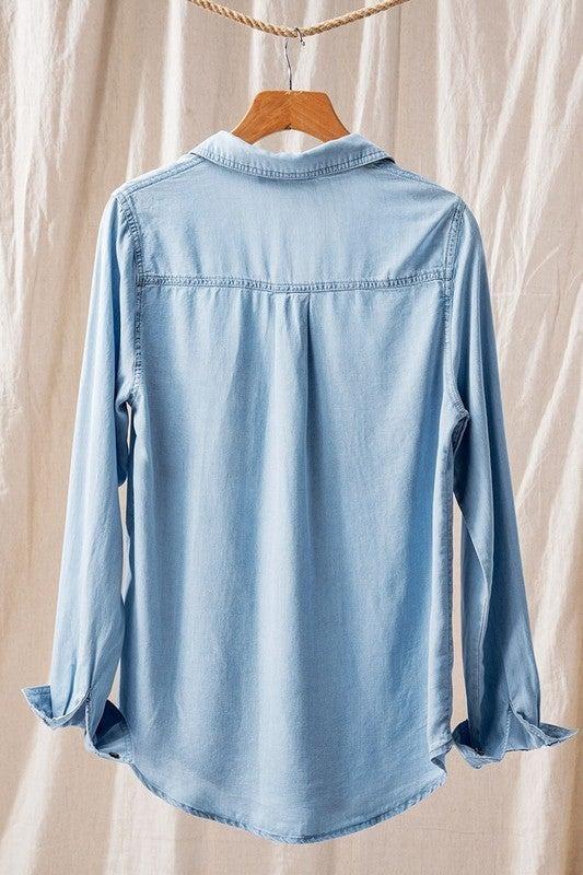 Tencel Denim Button Down Shirt