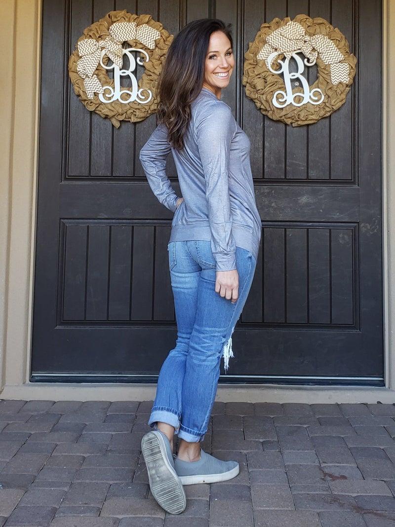 Grey QUEEN OF HEARTS Sweatshirt