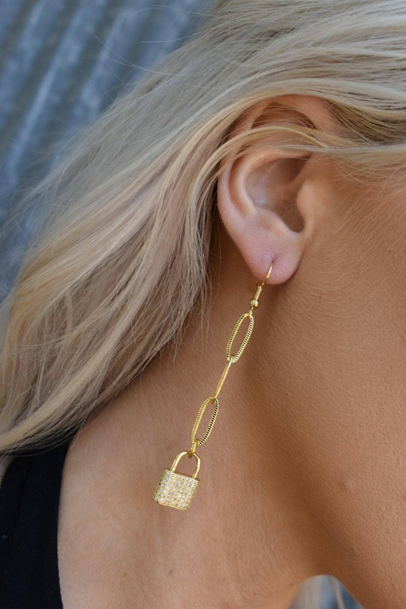 Pave Goldie Locks Drop Earrings