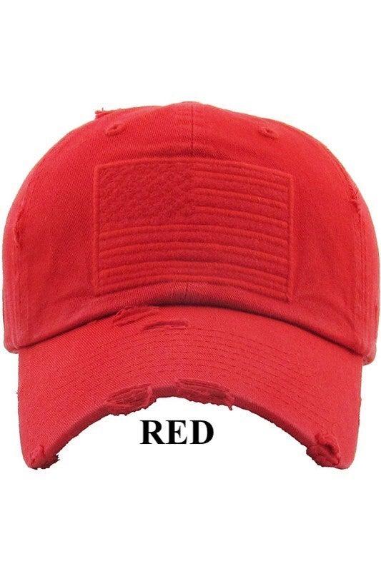 Vintage Distressed American Flag Baseball Hat