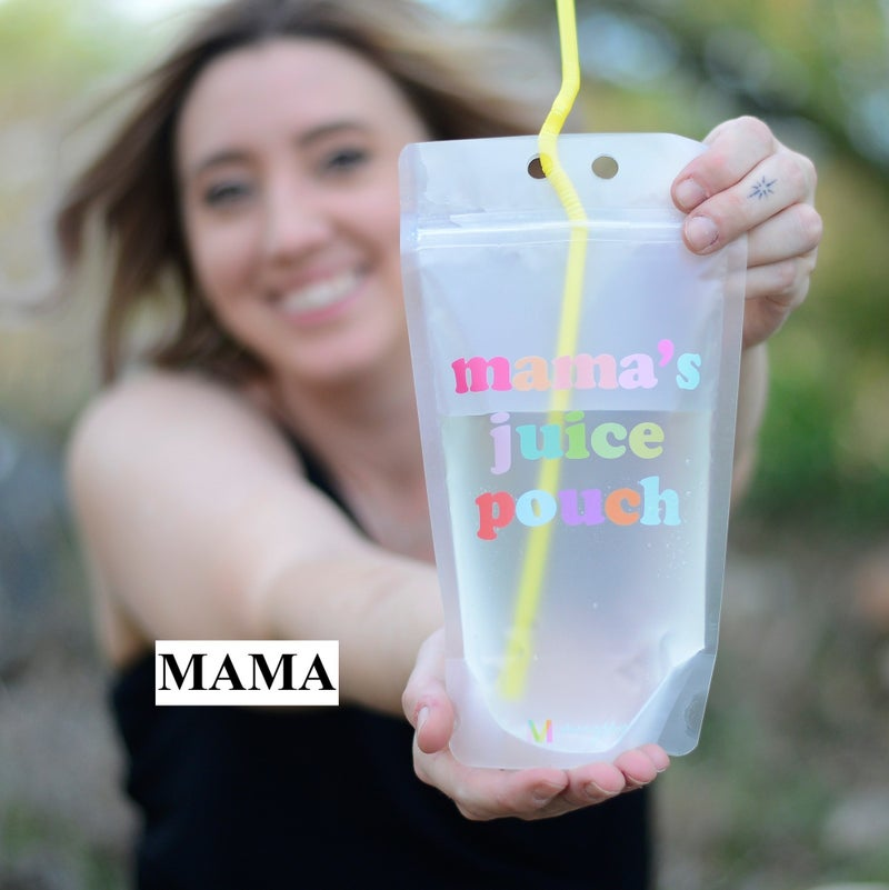 Adult Drink Pouches with Straw and Lanyard (SINGLES & 6 PACKS)