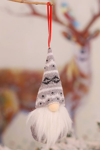Grey Christmas Gnome Ornament *Final Sale*