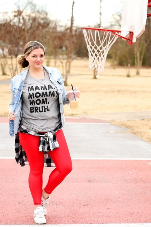 Athletic Grey MAMA BRUH Unisex Fit Graphic Tee