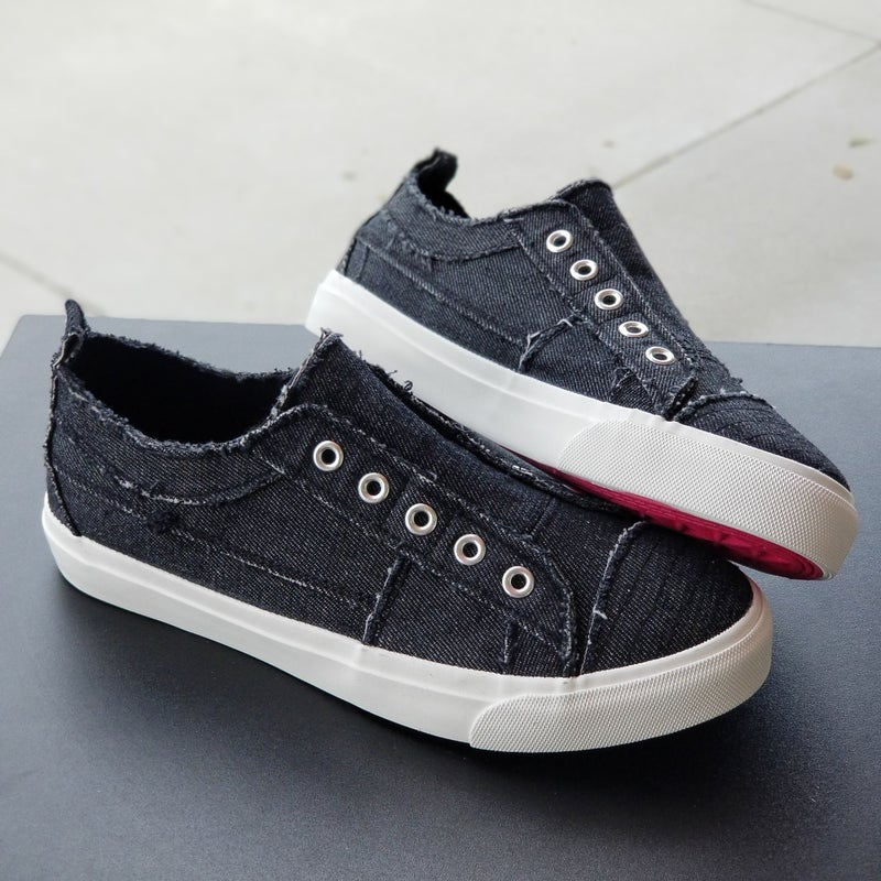 Corkys Babalu Distressed Slip On Sneakers