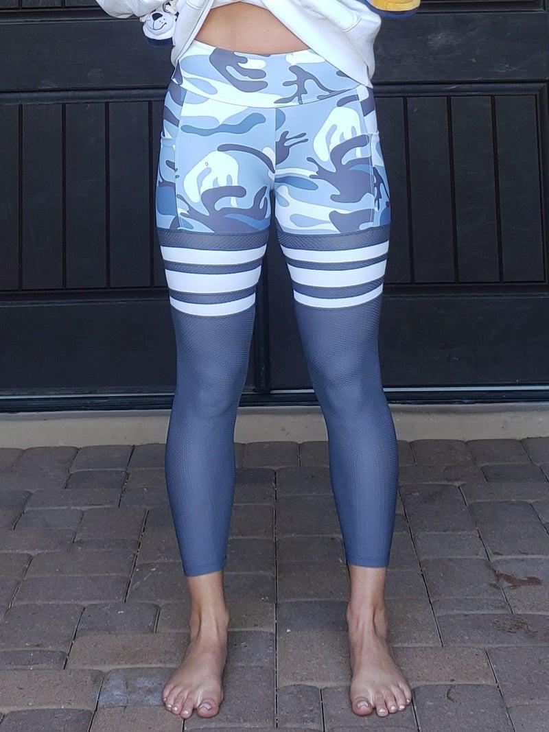 Camo Stripe Thigh High  Leggings