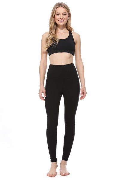 Black High Waisted Full Length Athletic Leggings