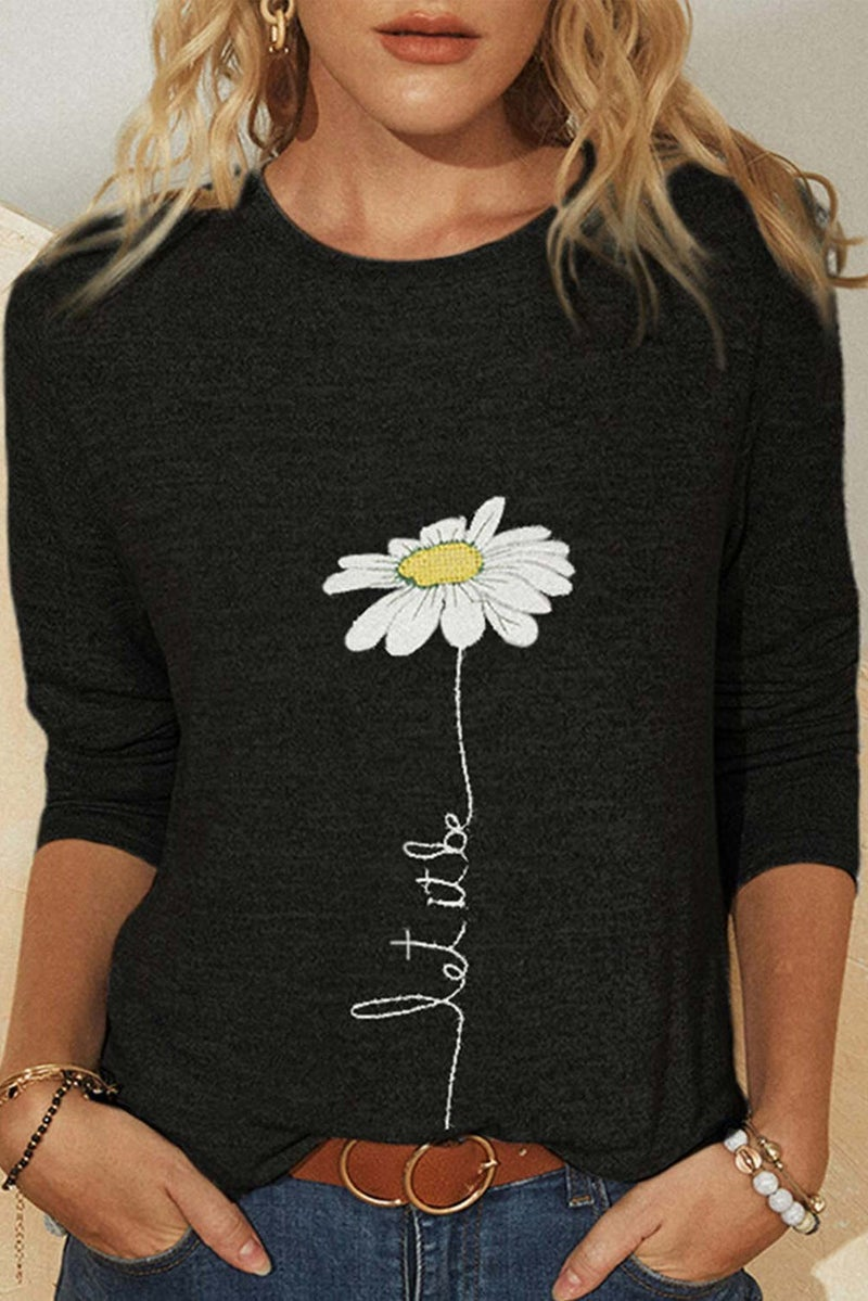 LET IT BE Long Sleeve Round Neck Tee