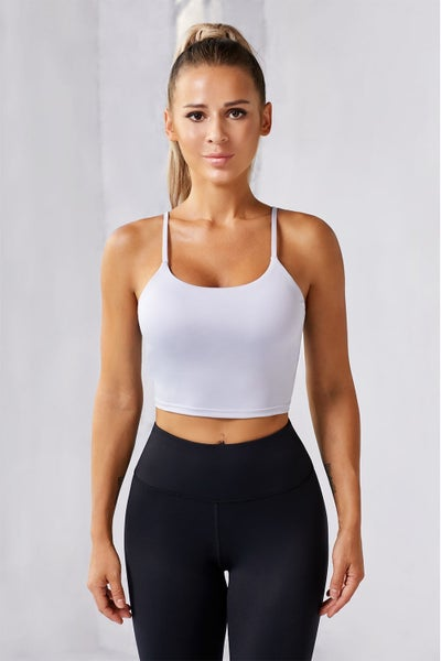 Seamless Cropped Bramini with Removable Pad Shelf Bra