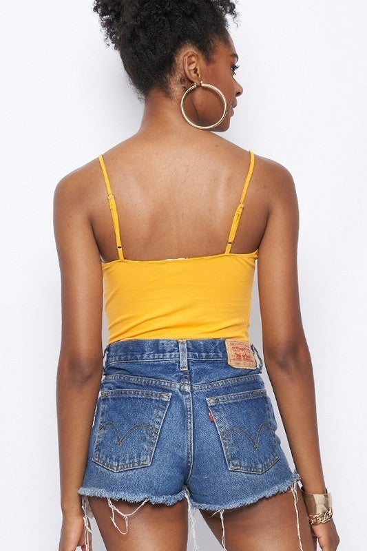Adjustable Strap Cami Bodysuit