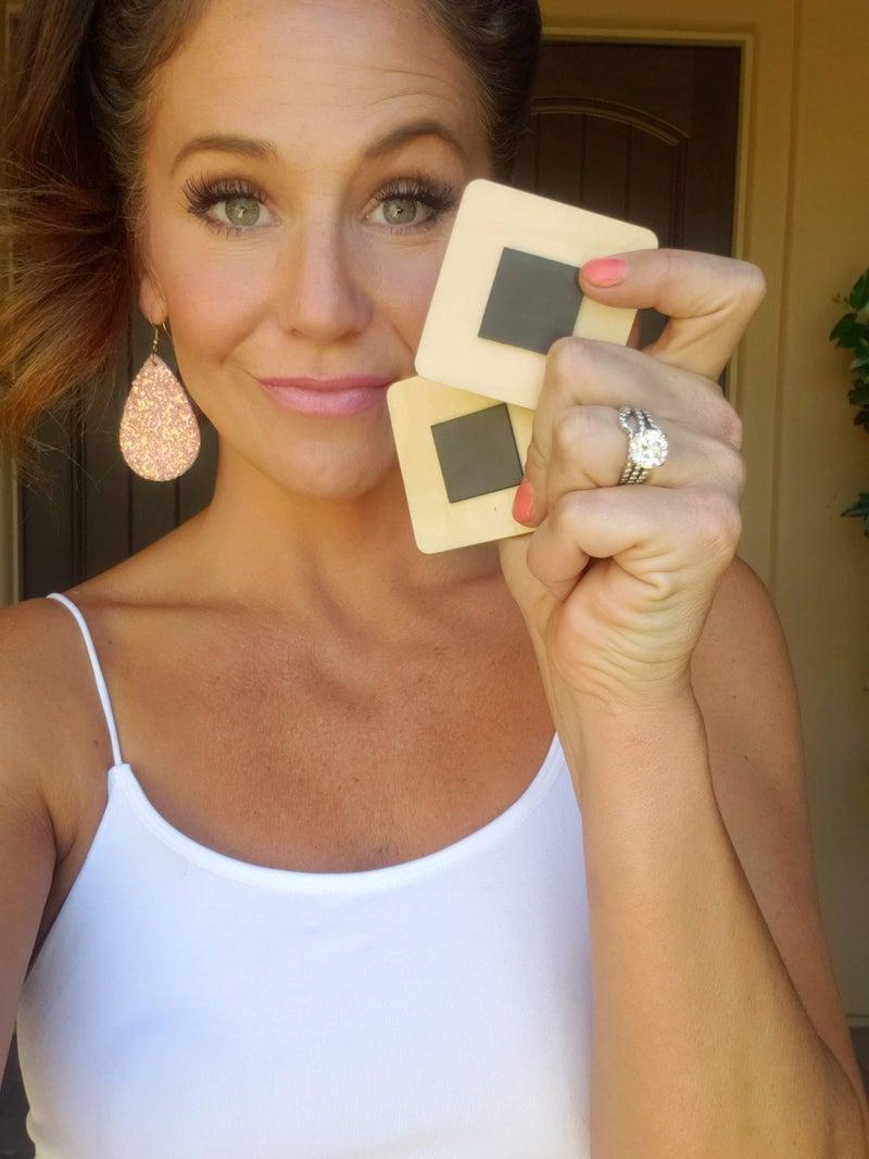 Wood Refrigerator Magnets *Final Sale*