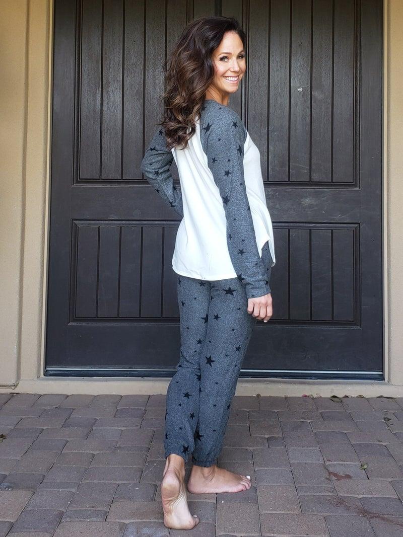 Charcoal Star DEAR SANTA Loungewear Set