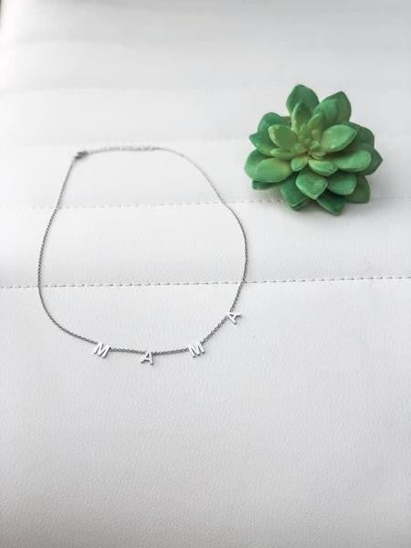 """MAMA Stainless Steel 18"""" Necklace"""
