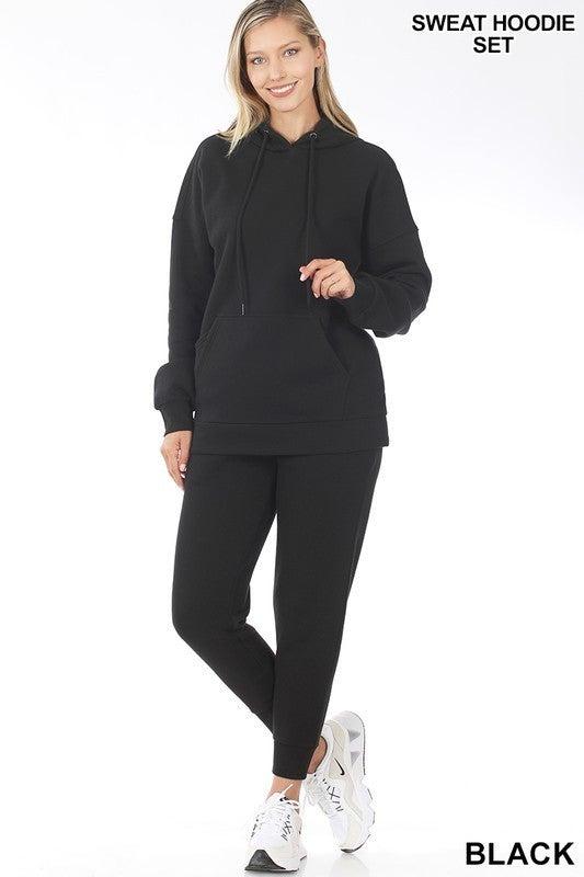 Black Hoodie Sweatsuit