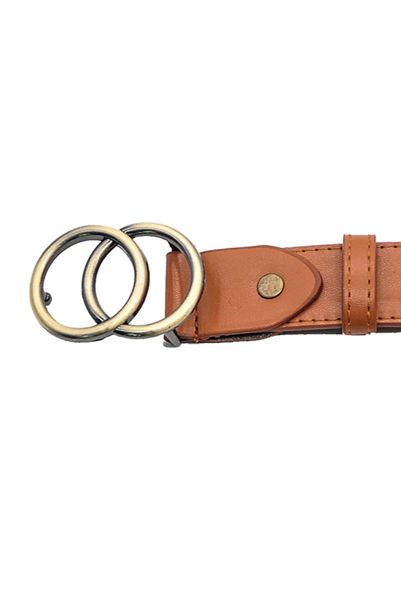 Brown Double O Ring Belt