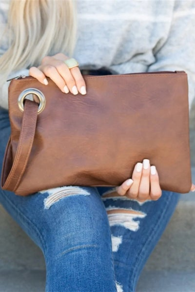 Oversized Everyday Wristlet Clutch