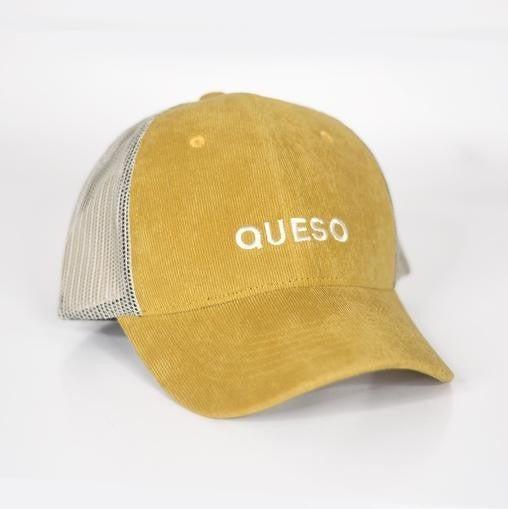 Corduroy Cream Mesh Snap Back Structured Baseball Hat