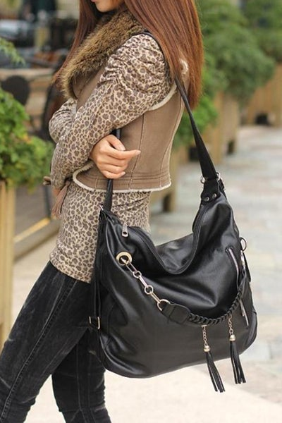 Faux Leather Cross Body/Shoulder/Backpack Hobo Bags