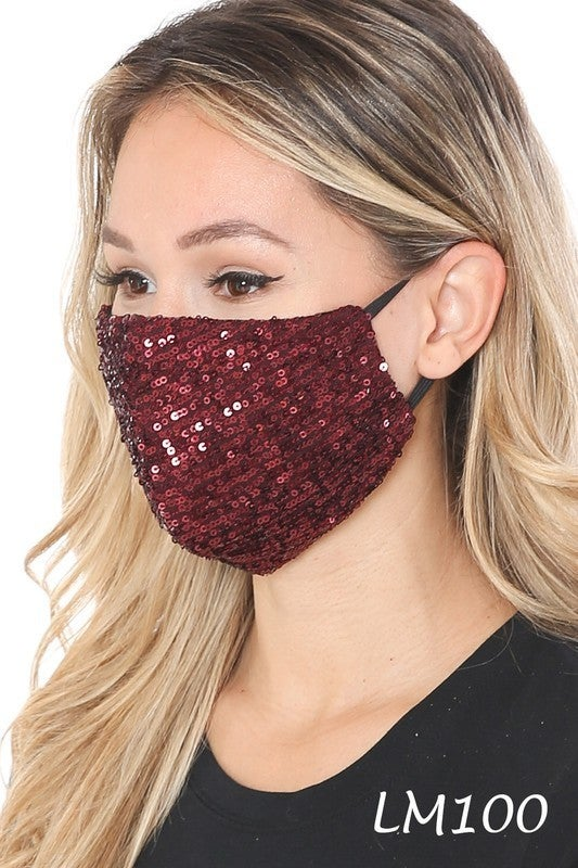 Sequin Adjustable Face Mask
