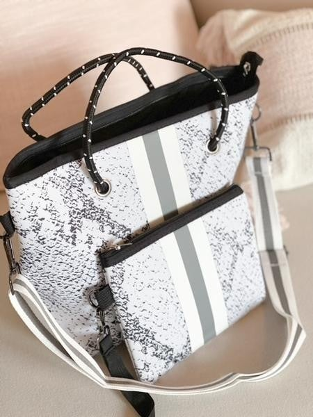 The Hamptons Neoprene Crossbody Bag with matching Wristlet