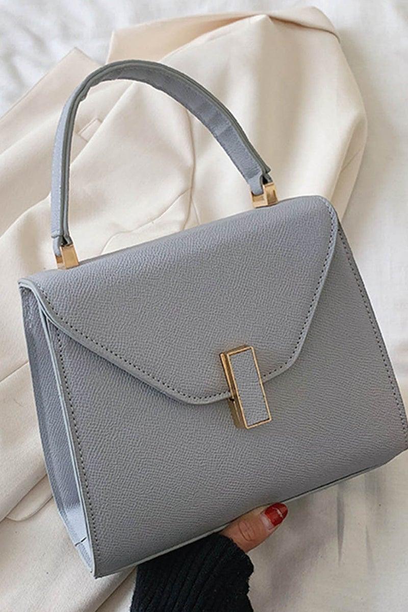Grey Elegant Minimalist Hand Bag