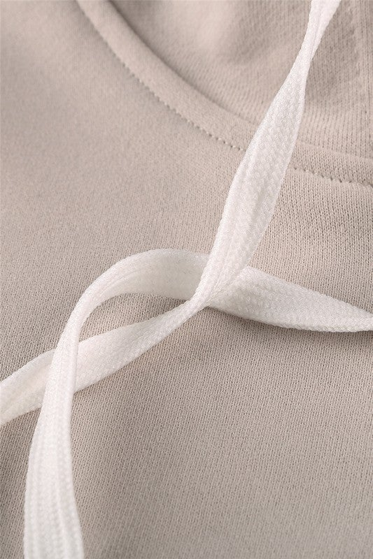 Mocha Mauve Black Ivory Colorblock Quarter Zip Pullover Hoodie