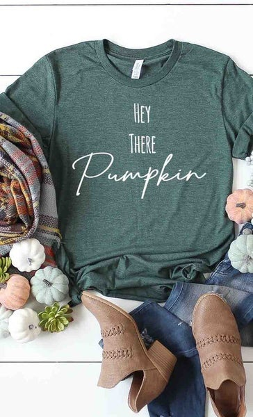 Heather Grass HEY THERE PUMPKIN Unisex Fit Tee