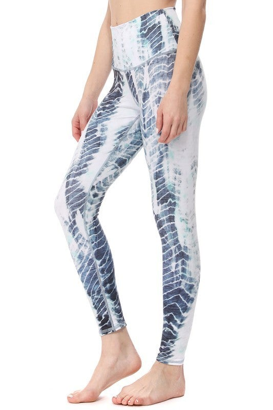 Linear Mix High-Waisted Full Length Athletic Leggings