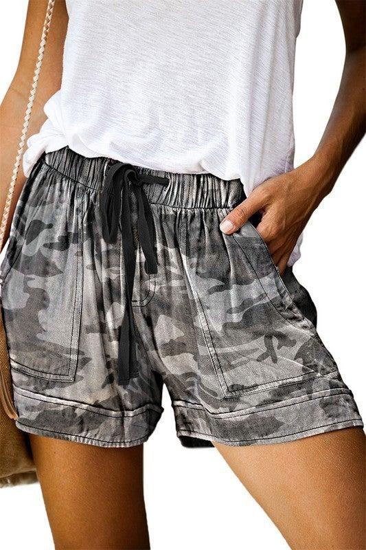 Drawstring Casual Pocket Shorts