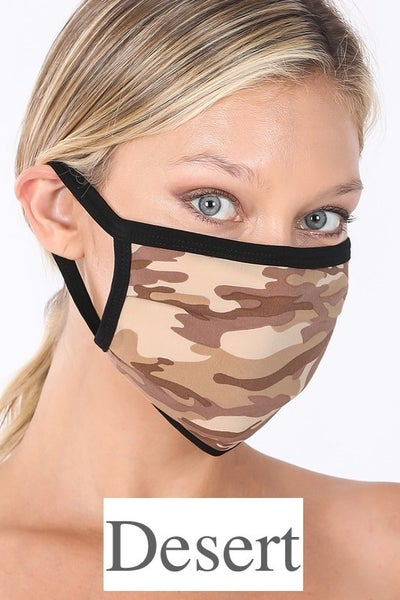 Camo Washable Face Mask *Final Sale*