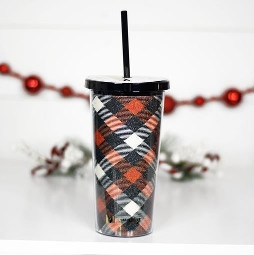 Holiday 20oz Tumblers with Straws
