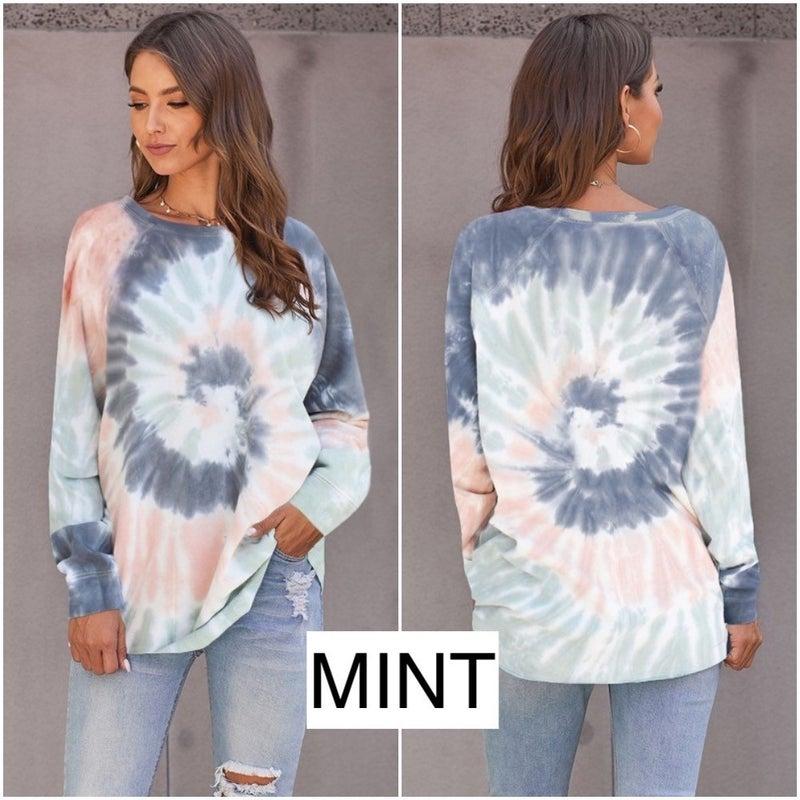Swirl Tie Dye Oversized Sweatshirt