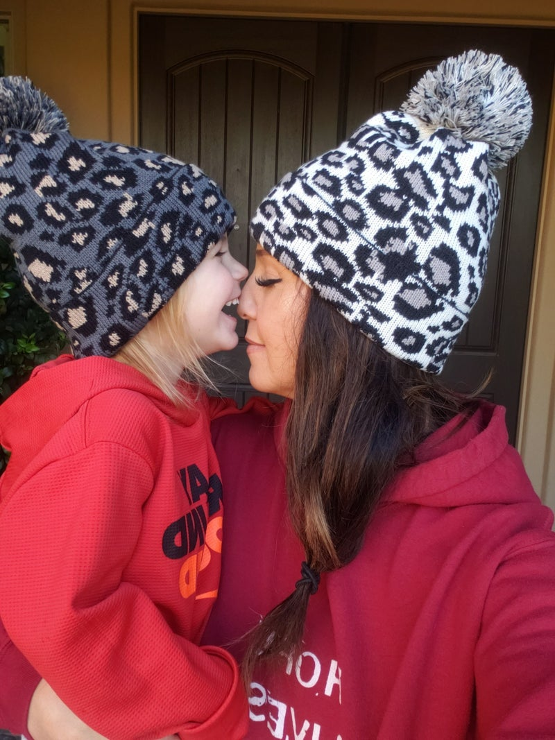 Leopard Pom Beanie *Final Sale*