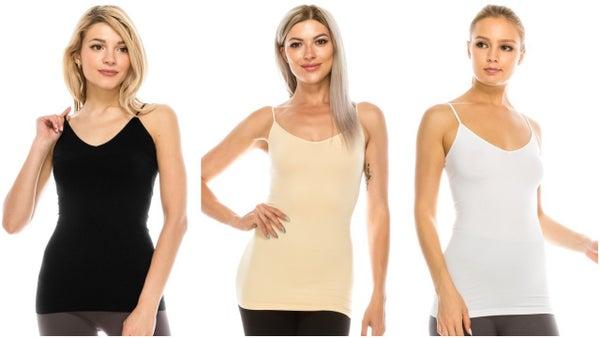 Skinny Strap Seamless LONG Camis *Final Sale*