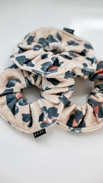 Leopard Microfiber Towel Scrunchie