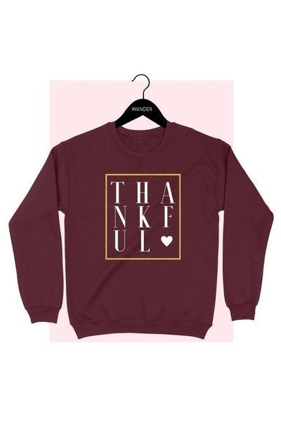 THANKFUL Fleece Lined Sweatshirt
