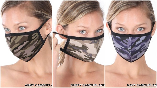 Camo Washable Cotton Masks