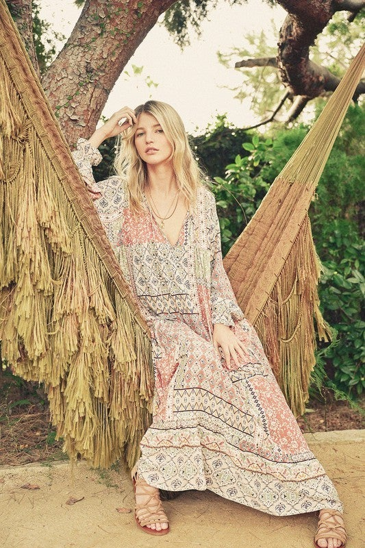 Boho Patchwork Oversized Dress