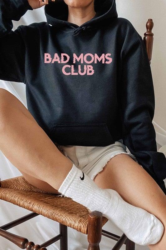 Black & Pink Bad Moms Club Graphic Hoodie