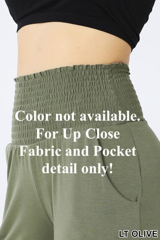 Smocked Waistband Soft and Comfy Lounge Pants with POCKETS