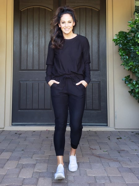 Black Soft French Terry Jogger Set