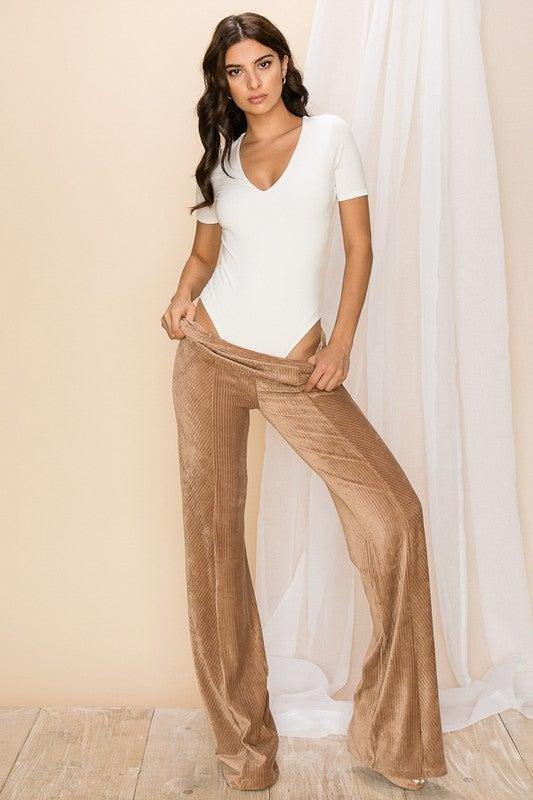 Tatiana V-Neck Short Sleeve Bodysuit